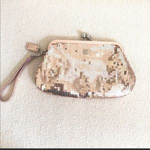Coach Sequin Rose Gold